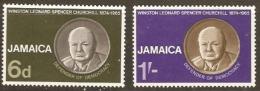 Jamaica  1965 SG 252-3  Churchill Lightly Mounted Mint - Jamaica (1962-...)