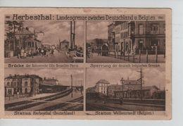 Cantons De L'Est-Ostkanton CP Herbesthal 4 Vues Station - Gare/ Tram / AP1248 - Lontzen