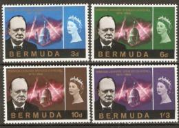 Bermuda  1965   SG 189-92  Churchill  Lightly Mounted Mint - Bermuda