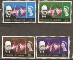 British Virgin Islands   1965  SG 197-200 Churchill Lightly Mounted Mint - British Virgin Islands