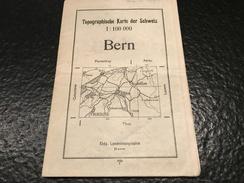 Bern -1934 - TOPOGRAPHISCHE KARTE DER SCHWEIZ - CARTE TOPOGRAPHIQUE DE LA SUISSE- - Cartes Topographiques