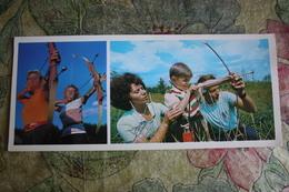 Old Postcard - ARCHERY - USSR OLYMPIC CHAMPIONS AMONG US -  1978 ARCH - ARCHER - Tir à L'Arc