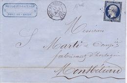 18408# NAPOLEON LETTRE PEUGEOT ET JACKSON Obl PONT DE ROIDE 1856 T15 DOUBS Pour MONTBELIARD - Marcophilie (Lettres)