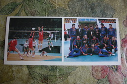 Sport. RUSSIA. . Soviet VOLLEYBALL Team Olympic Champion -  1981 Postcard - Volleyball