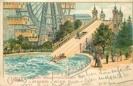 WIEN - Gruss Von Des Wasserrutschbahn In Venedig In Wien, Carte Datée 1899. - Vienne
