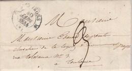 Lettre Cachet ST GIRONS Ariège 30/1/1844 Taxe Manuscrite Pour Toulouse - 1801-1848: Précurseurs XIX