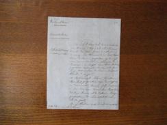 BOURDON SOMME MAIRIE COURRIER DU 31 MARS 1847 LE MAIRE PUBLICATION DE MARIAGE JULES DE RAISMES-ELVIRE MAILLIET - Manuscrits