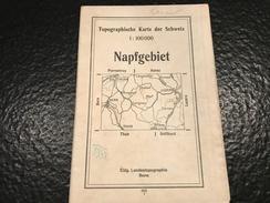 Napfgebiet -1933 - TOPOGRAPHISCHE KARTE DER SCHWEIZ - CARTE TOPOGRAPHIQUE DE LA SUISSE - Topographische Karten