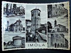 (FG.A41) Saluti Da IMOLA - VEDUTINE (PIRATELLO,PIGHINI,SFORZA...) Targhetta 4 NOVEMBRE GIORNATA DEL COMBATTENTE, 1956 - Imola
