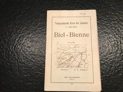 Biel - Bienne -1946 - TOPOGRAPHISCHE KARTE DER SCHWEIZ - CARTE TOPOGRAPHIQUE DE LA SUISSE - Militärmanöver -  Manœuvres - Topographische Karten