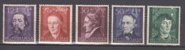 Deutsches Reich (Generalgouvernement) / Kulturträger (I); 3 Jahre Generalgouvernement /  MiNr.: 96-100 - Deutschland
