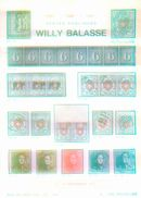 Willy Balasse 1105-1107 Auktion 1975 - Auktionskataloge