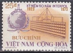 Südvietnam Vietnam South 1973 Gesellschaft Sicherheit Organisationen Polizei Interpol, Mi. 531 ** - Vietnam