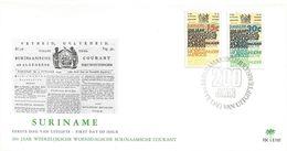 Surinam Suriname 1974 Paramaribo 200 Years Newspaper FDC Cover - Suriname
