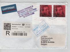 Allemagne Recommandé Leverkussen 2004 Griffe Unilingue Beschadig Toegekomen...+étiq.Afwezig V.Schilde AP1253 - Postmark Collection