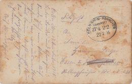 "11 052 Fotokarte Bahnpost ""CÖLN(RHEIN)-HANNOVER"" 1916 - Usados"