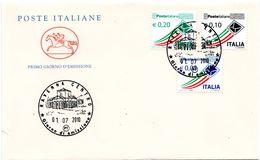 FDC012 - ITALIA REPUBBLICA 2010 PRIORITARI 3 VALORI SU FDC - 6. 1946-.. Repubblica