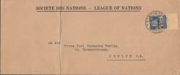 SCHWEIZ  Völkerbund SDN 19 X EF Auf Auslands-Brief Mit Stempel: Genf 8.IV.1931 - Dienstpost
