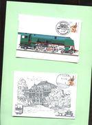 Belgie Andre Buzin Birds 2449 Herdenkingskaart X 2 Ferphilex + Tienen - Cartas Commemorativas