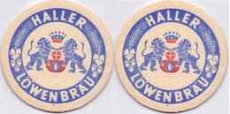#D180-058 Viltje Haller Löwen Bräu Ø 85 Mm - Sous-bocks