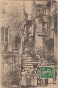 20 Bastia 1913 Une Vieille Rue TB Animée éditeur J.Moretti Bastia  Voyagé à Dos Couvert - Bastia