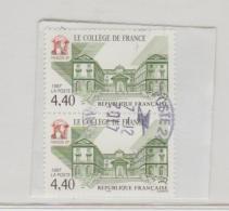 Frankreich 296 / Fragment Mit Markenpaar - Le College - Frankreich