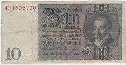 Germany P 180 A - 10 Reichsmark 22.1.1929 - VF - [ 3] 1918-1933 : Weimar Republic