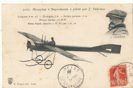 AVIATION )) Monoplan Deperdussin Piloté Par J VEDRINES  7062 - Aviatori