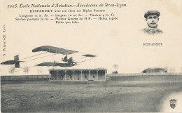 AVIATION )) BRON / DESPARMET  Avec Son élève Sur Biplan Somer  7005 - Aviatori