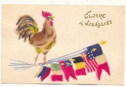 MILITARIA  )) GLOIRE A NOS ALLIES   Coq Et Drapeaux, Collage - Other