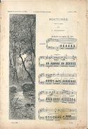 """Partition Jules Massenet """"Nocturne"""" Pour Le Piano Jacques Offenbach """"La Périchole"""" Chantée Par Mme Jeanne Granier - Partituren"""