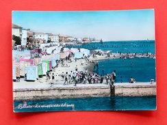 Cartolina Bellaria - La Spiaggia Vista Dal Porto - 1960 - Rimini