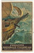 Prestito Nazionale Italiano 1918 WWI Rio De Janeiro  Signed Forquino  Litho Pimenta De Mello Used To Rufisque Senegal - Non Classificati