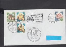 """ITALIA 1986 -  Doppio Annullo  - """"donatori  Organi"""" - Lanciano - Salute"""