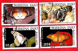 2954 - BURKINA  FASO (Poste Aéirenne)  1984  N° PA 272/75  Oblitérés - Burkina Faso (1984-...)