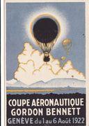 Coupe Aéronautique Gordon Bennett - Genève Du 1 Au 6 Août 1922 - GE Geneva