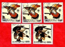 2957 - BURKINA  FASO (Poste Aéirenne)  1985 Lot De Timbres N° PA 288/89  Oblitérés - Burkina Faso (1984-...)