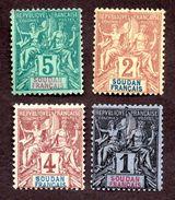 Soudan N°3 à 6 N* TB Cote 24 Euros !!! - Unused Stamps