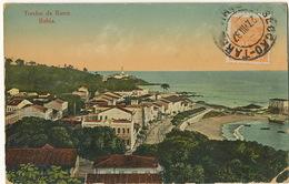 Bahia Trecho Da Barra  Used 1937 To Cuba  Litho Joaquim Ribeiro Bottom Right Corner Damaged - Salvador De Bahia