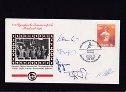 XII.Olympische Sommerspiele Montreal 1976.Schweizer Sporthilfe.Fechten Degen Mannschaft: Broncem. Mit Unterschriften - Ete 1976: Montréal