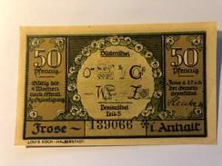 Allemagne Notgeld Frose 50 Pfennig - [ 3] 1918-1933 : Weimar Republic