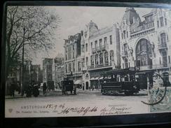 Amsterdam Tramway Rembrandplein Used 1904 To Italy Fine - Amsterdam