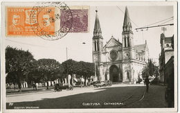Curityba Cathedral Real Photo Used To Moldova Chisinau - Curitiba