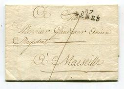 Frankreich / 1808 / Vorphila-Bf. L2-o 87 GENES (00704) - Poststempel (Briefe)