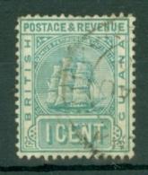 British Guiana: 1900/03   Ship   SG233   1c  Grey-green  Used - Guyane Britannique (...-1966)