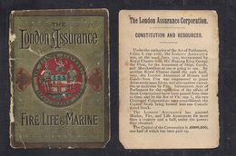 Card London Assurance Fire,Life & Marine Very Old And Looks It Small ( C838 ) - Advertising