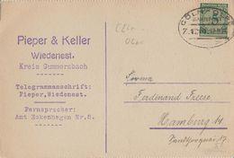 "11 075 Postkarte Bahnpost ""CÖLN-OLPE"" 1924 - Usados"