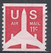United States 1971. Scott #C78 (MNG) Jet Airliner, Plane, Avion - Rollen