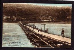 CPA - SAINT-GOAR -Le Pont De Bateaux Construit Par Le Génie - Ouvert Au Public - - St. Goar