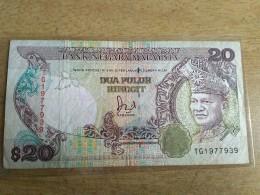 Vintage Malaysia Ringgit 1986 1995 $20 Jaafar HUSSIEN Banknote GVF TDLR Prefik TG - Malaysia